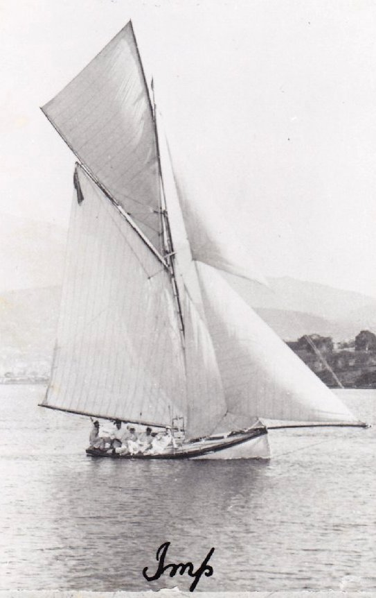 Imp sailing on the Derwent river