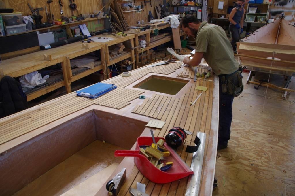 fitting the teak decks
