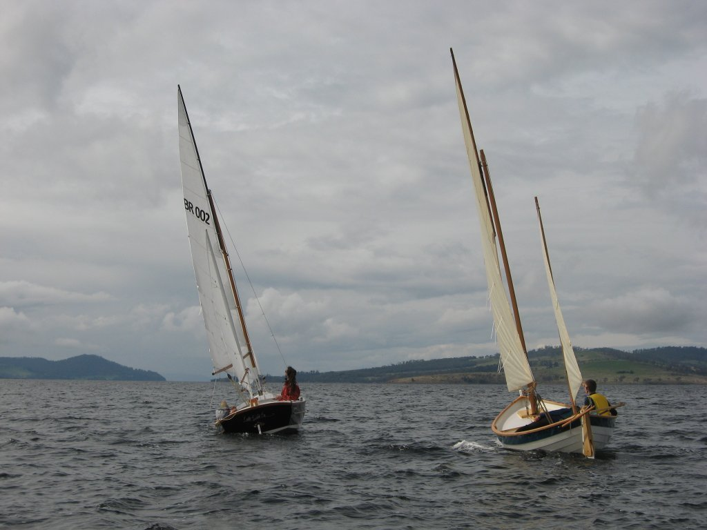 BayRaider 20 and Caledonia Yawl sailing together