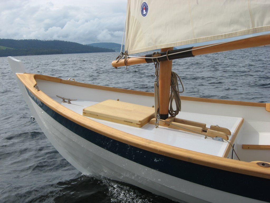foredeck detail on the caledonia yawl