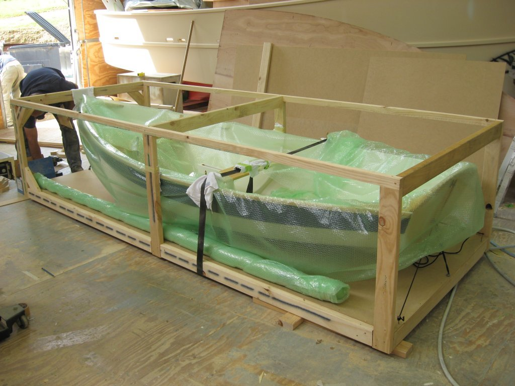 shellback dinghy crated