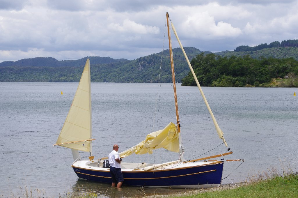 Sailing on the beautiful Lake Tarawera, New Zealand
